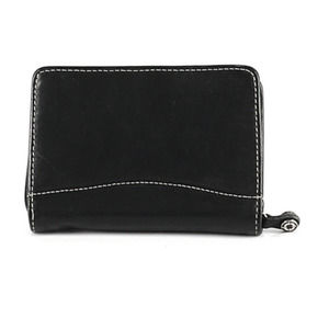 Franklin Covey Leather Organizer Wallet Black